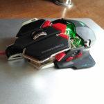 Зеленая подцветка у мышки Combaterwing cw-80